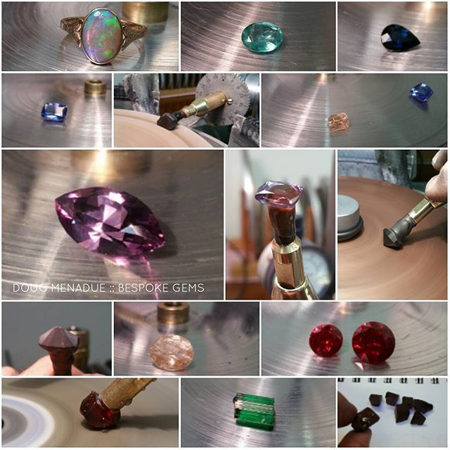 Been a busy week or two... repairs,  recuts,  repolishes, custom cuts... a bit of everything.  DOUG MENADUE  WWW.BESPOKE-GEMS.COM  SYDNEY CBD AUSTRALIA - Precision Gemcutting and Lapidary Services Located In Sydney Australia