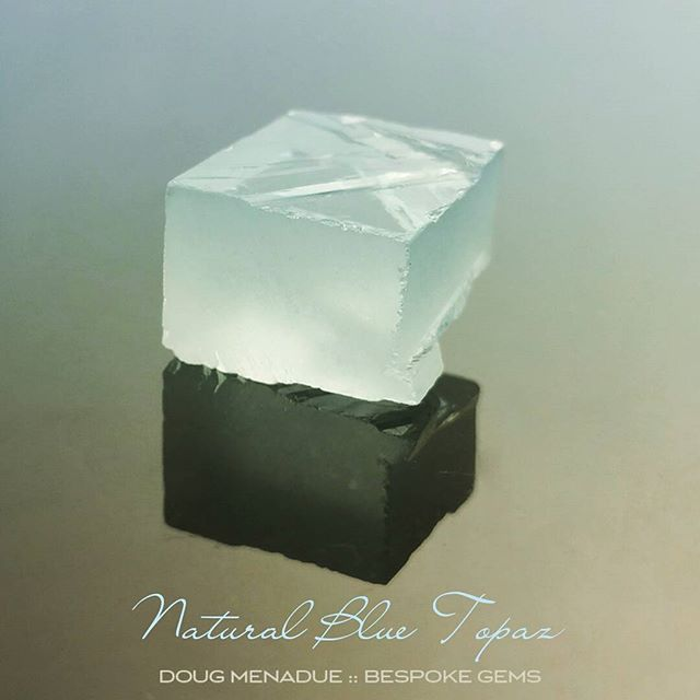 Cool as an iceberg, natural blue topaz. Perfect for Asscher Cuts and hot sunny days.  DOUG MENADUE  WWW.BESPOKE-GEMS.COM  SYDNEY CBD AUSTRALIA - Precision Gemcutting and Lapidary Services Located In Sydney Australia