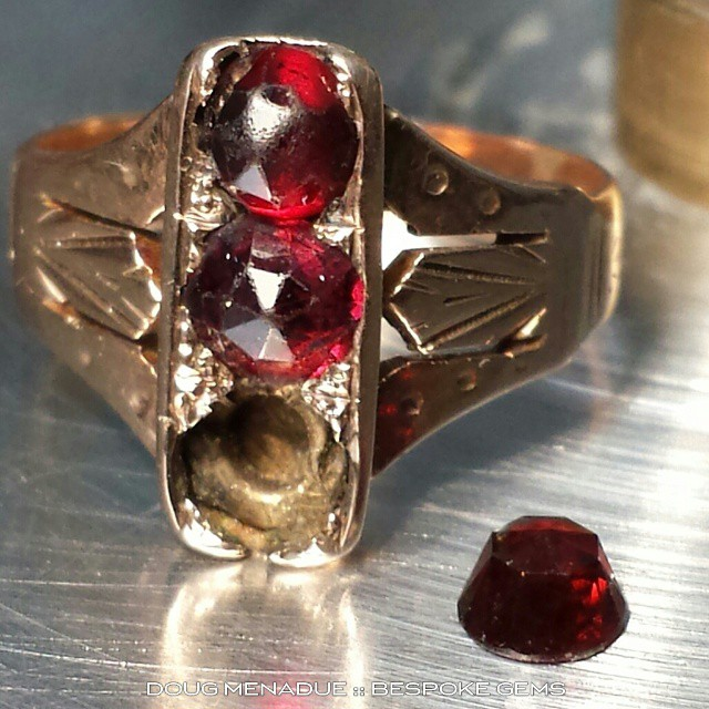 Cut a nice little 4mm rose garnet for this client's ring to replace the one that fell out and was lost.  WWW.BESPOKE-GEMS.COM - Precision Gemcutting and Lapidary Services Located In Sydney Australia