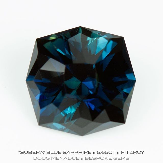 Finished! A very fine blue sapphire from the 'Subera' gemfields near Rubyvale in Central Queensland. It is eye clean and came in at 5.65 carat 10.45x10.45x7.11mm. This beautiful gem will be part of the @courtesyoftheartist Rare Earth: Australian Made exhibition opening this Thursday night. Come along and check it out and all the other amazing Aussie gems. Look forward to seeing you there. :-) DOUG MENADUE  WWW.BESPOKE-GEMS.COM  SYDNEY CBD AUSTRALIA - Precision Gemcutting and Lapidary Services Located In Sydney Australia