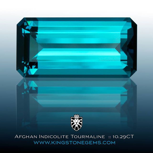From the King Stone Collection, a superb and exceptionally fine indicolite blue tourmaline from Afghanistan. This beautiful gem weights 10.29 carats, measures 18.7x9.3x6.7mm and is eye clean. It is recommended for both wear and investment and is definitely a gem for the collector. Fine large tourmalines of this water are very scarce.  Available.  WWW.KINGSTONEGEMS.COM  SYDNEY CBD AUSTRALIA - Precision Gemcutting and Lapidary Services Located In Sydney Australia