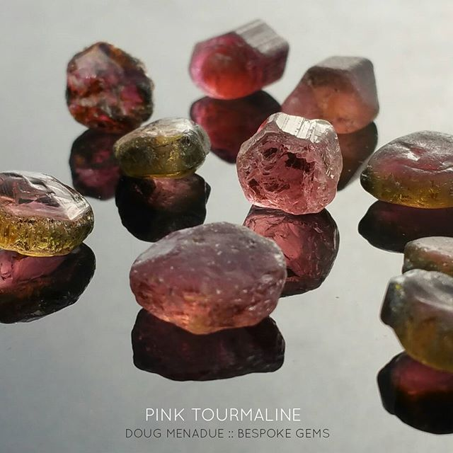 Just a few of the lovely pink tourmalines from a really good parcel that I was lucky to score recently.  All nice little cutters that will cut some really sweet pinks. Plenty of matched pairs for earrings and studs.  DOUG MENADUE  WWW.BESPOKE-GEMS.COM - Precision Gemcutting and Lapidary Services Located In Sydney Australia