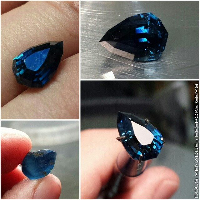 Just finished! One of those really fine blue sapphires from Africa. Freestyke - Precision Gemcutting and Lapidary Services Located In Sydney Australia