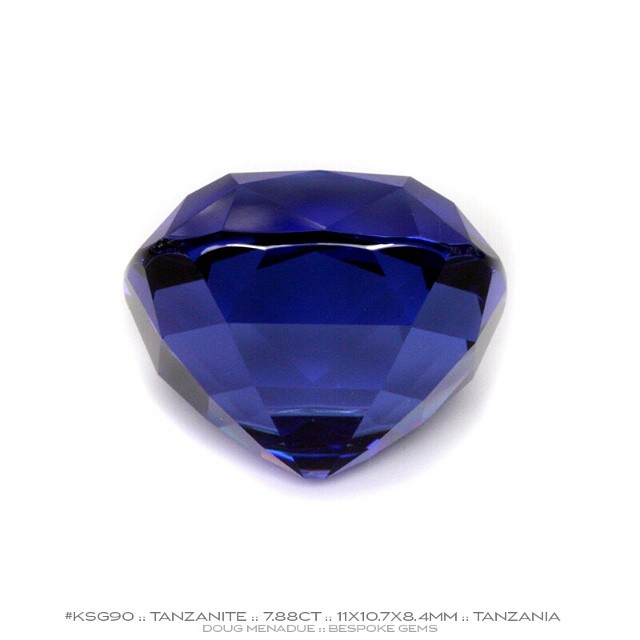 KSG90 :: TANZANITE :: 7.88CT :: 11X10.7X8.4MM :: CUSHION CUT :: AAA COLOUR :: That beautiful tanzanite from another angle. Lovely profile.  Available for sale.  Contact via PM or email dmenadue@yahoo.com  WWW.BESPOKE-GEMS.COM - Precision Gemcutting and Lapidary Services Located In Sydney Australia