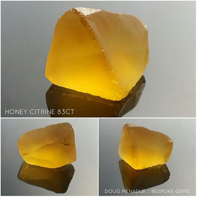 Lovely big piece of honey citrine, a beautiful stone that will cut a large and spectacular gemstone in a design with lots of facets.  DOUG MENADUE  WWW.BESPOKE-GEMS.COM  SYDNEY CBD AUSTRALIA - Precision Gemcutting and Lapidary Services Located In Sydney Australia