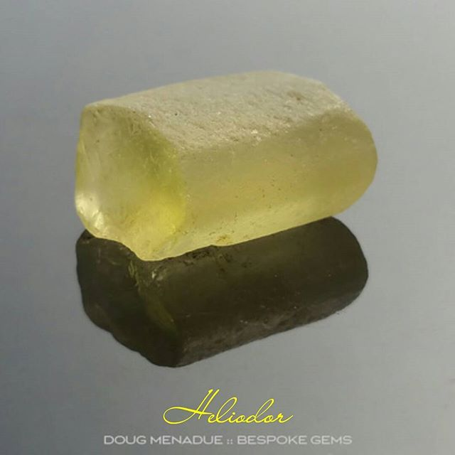 Lovely piece of water worn heliodor from the Ukraine.  DOUG MENADUE  WWW.BESPOKE-GEMS.COM  SYDNEY CBD AUSTRALIA - Precision Gemcutting and Lapidary Services Located In Sydney Australia