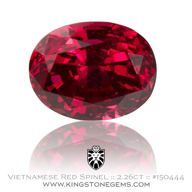 One of three beautiful red spinels just in. This is a superb red spinel from Vietnam, 2.26ct, 8.6x6.4x5.49mm, VVSI, #150444. A very clean spinel with a color very similar to Mozambique ruby. A first class gemstone. Available for sale.  http://www.kingstonegems.com/fine-loose-coloured-gemstones/vietnamese-red-spinel-oval-150444/  WWW.KINGSTONEGEMS.COM  SYDNEY CBD AUSTRALIA - Precision Gemcutting and Lapidary Services Located In Sydney Australia