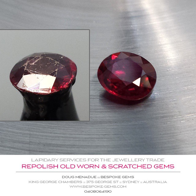 REPOLISH OLD, WORN & SCRATCHED GEM :: Revive those old sentimental and favorite stones to give them a new lease of life. Make them sparkle again!  Offer your customers that little bit extra.  Bespoke Gems :: Lapidary Services For The Jewellery Trade  WWW.BESPOKE-GEMS.COM - Precision Gemcutting and Lapidary Services Located In Sydney Australia