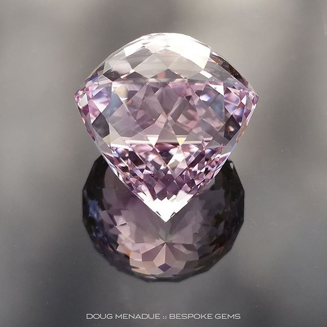ROSE DE FRANCE AMETHYST - PORTUGUESE DOUBLE ROSE - 36.9 CARATS - 19.27x19.27x19.4MM - 225 FACETS -   �When you look at the gem and you ''swirl'' it around it looks like a school of bright silvery fish swimming around and around inside the gem, it's quite mesmerizing. When you do this out in the sunlight, my goodness, what an effect! This is a gem that I definitely consider an Objet d'art, it is a gem that captures the full beauty of the Rose de France amethyst, with its soft delicate purple hue and lovely water clear clarity. �   http://www.bespoke-gems.com/rose-de-france-amethyst.php#image_840     - Precision Gemcutting and Lapidary Services Located In Sydney Australia