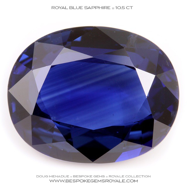 ROYAL BLUE SAPPHIRE :: 10.5 CARATS :: 14.7X11.8X6.1MM :: This is a stunning royal blue Sapphire that would make the ultimate gent's ring stone.  It is big and the colour superb and the oval shape is a classic. Imagine this beautiful gem set in gold as a ring, it would be without equal.  WWW.BESPOKEGEMSROYALE.COM - Precision Gemcutting and Lapidary Services Located In Sydney Australia