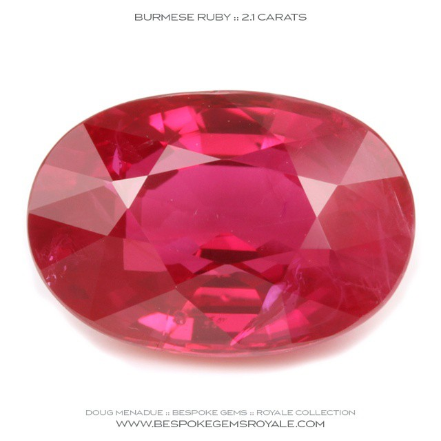 RUBY :: BURMA :: 2.1 CARATS :: 8.8x6.1x4.4MM  An exceptional natural Ruby with excellent color.  WWW.BESPOKEGEMSROYALE.COM - Precision Gemcutting and Lapidary Services Located In Sydney Australia