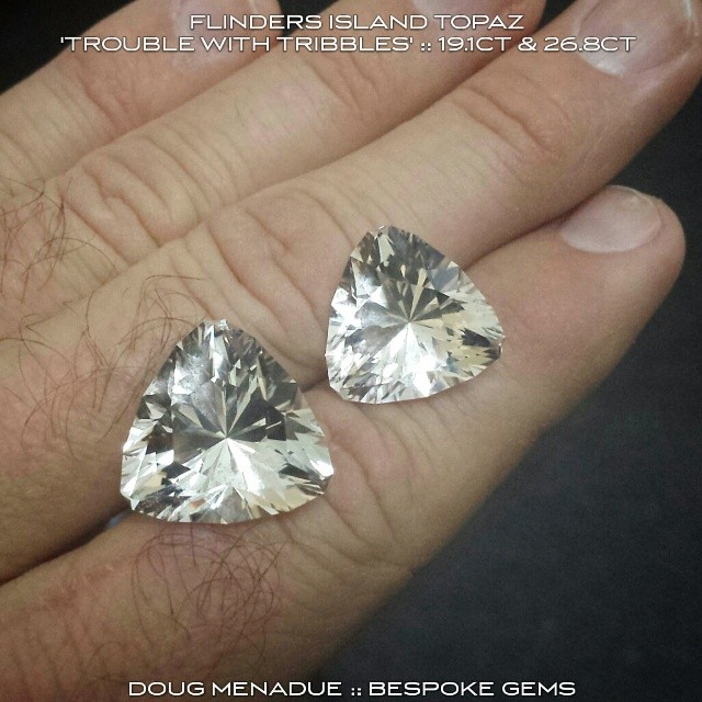 Reckon you could wear one of these big 'Killiecrankie Diamonds' on your finger?  WWW.BESPOKE-GEMS.COM - Precision Gemcutting and Lapidary Services Located In Sydney Australia