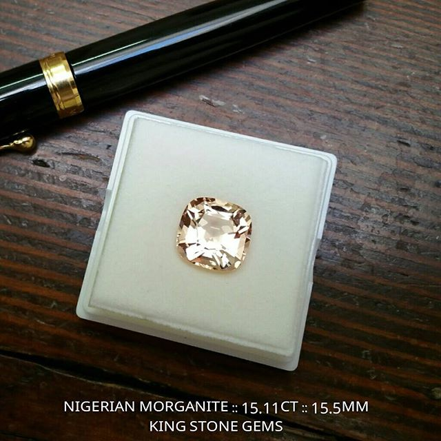 Some super gem candy coming your way folks!  Anyone for a 15.11 carat, 15.5mm Nigerian morganite square cushion, natural and untreated, precision cut, eye clean with a beautiful apricot pink color - a simply stunning stone.  WWW.KINGSTONEGEMS.COM  SYDNEY CBD AUSTRALIA - Precision Gemcutting and Lapidary Services Located In Sydney Australia