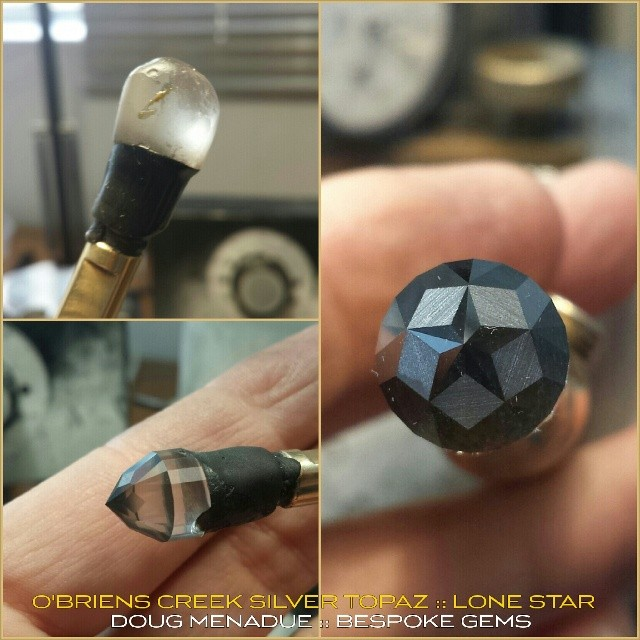 Starting on a new silver topaz lone star. Shine on brightly dudes! :-) WWW.BESPOKE-GEMS.COM - Precision Gemcutting and Lapidary Services Located In Sydney Australia