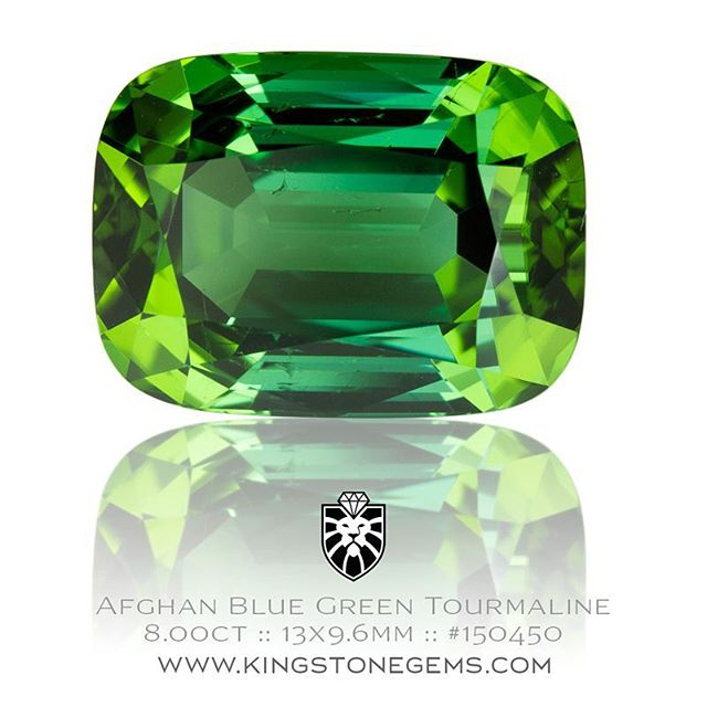 Superb Afghan blue green tourmaline, 8.00ct, 13x9.6x7.8mm, #150450. In the hand this beautiful gem has a rich hue and bright flashes of colour and vibrancy. It is an exceptionally fine tourmaline from Afghanistan which is world renown for producing stone of the best tourmaline found anywhere. It is a wonderful classic stone. It has been precision cut and polished in a rectangle cushion design. Available.  http://www.kingstonegems.com/fine-loose-coloured-gemstones/afghan-blue-green-tourmaline-rectangle-cushion-150450/  WWW.KINGSTONEGEMS.COM  SYDNEY CBD AUSTRALIA - Precision Gemcutting and Lapidary Services Located In Sydney Australia