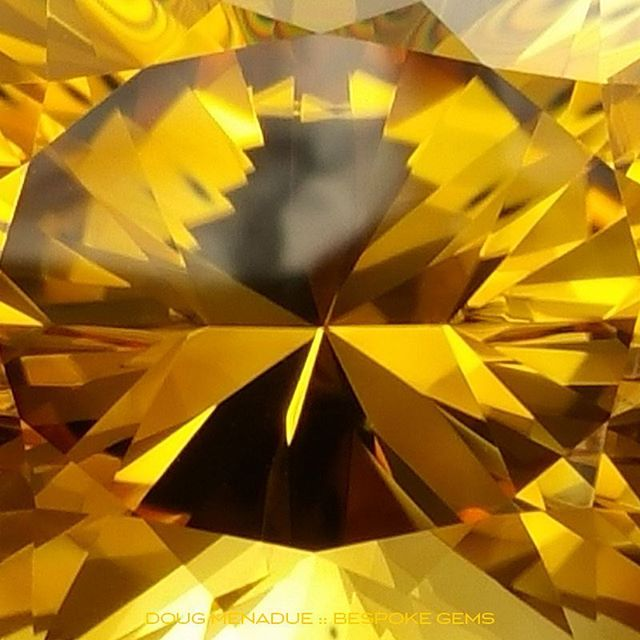 The golden eye sees you! This is 29.32 carats of golden honey citrine cut in one of my favorite oval designs,  the Ten Main Oval. A beautiful gem with deep rich tones and is eye clean... spectacular! Available. Visit my website for full details.  DOUG MENADUE  WWW.BESPOKE-GEMS.COM  SYDNEY CBD AUSTRALIA - Precision Gemcutting and Lapidary Services Located In Sydney Australia