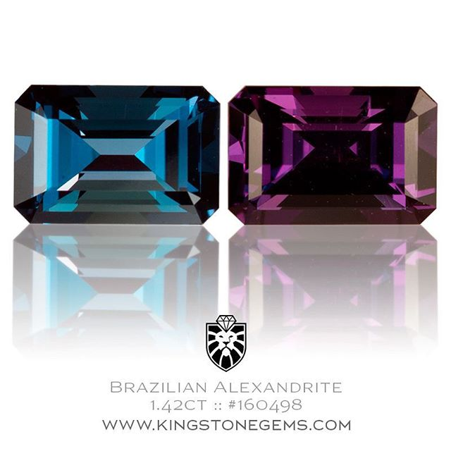 Who loves Alexandrites??? Here is a superb Brazilian Alexandrite that has been precision cut in the classic Emerald Cut design.  It is a large eye clean stone exhibiting a very strong color change and weighs in at 1.42 carats, 7.49x5.07x4.11mm. It is available for inspection and purchase at King Stone Gems in Sydney. Contact me for more details or visit the website here :  http://www.kingstonegems.com/fine-loose-coloured-gemstones/brazilian-alexandrite-emerald-cut-160498/  WWW.KINGSTONEGEMS.COM  SYDNEY CBD AUSTRALIA - Precision Gemcutting and Lapidary Services Located In Sydney Australia