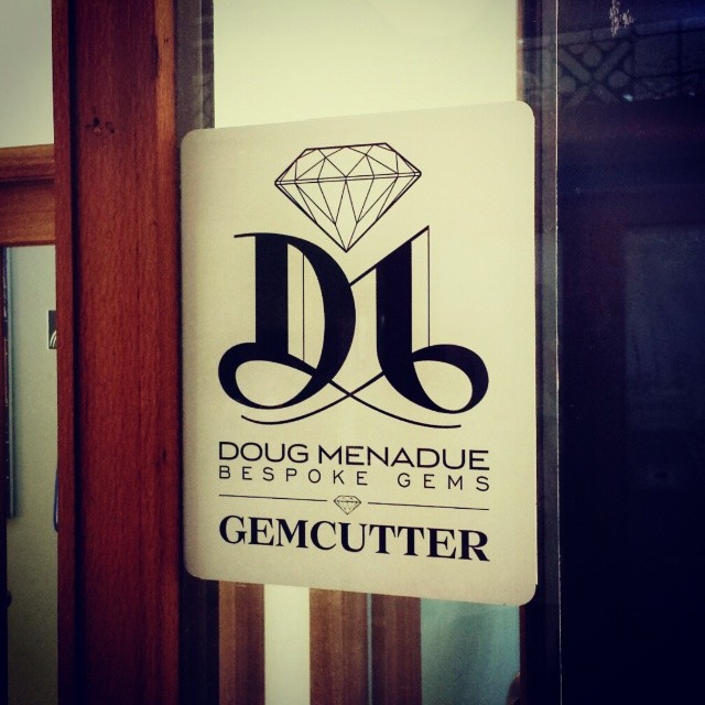 Woohoo! Got my sign up on the window at last. Open for business folks. :-) Oh,  and if anyone is looking for diamonds I can source those for you to. - Precision Gemcutting and Lapidary Services Located In Sydney Australia