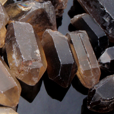 Smokey Quartz, O'Briens Creek Gemfields, Queensland, Australia