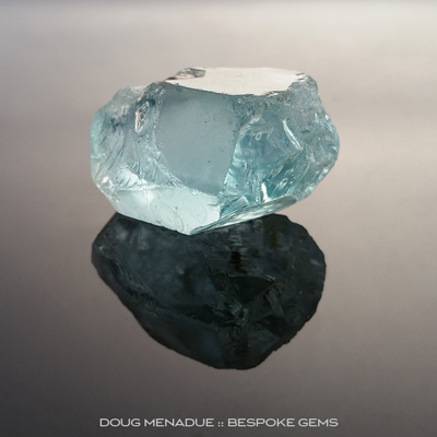 #r260, Aquamarine, Brazil, Rough, 106ct - Doug Menadue :: Bespoke Gems