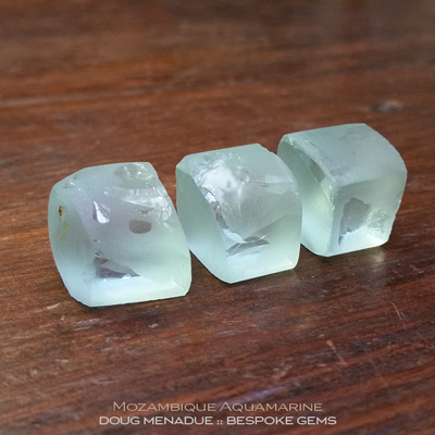 Seafoam Aquamarine, Mozambique, #r282 - Doug Menadue :: Bespoke Gems :: For the finest quality precision cut and polished gemstones, located in the heart of Sydney Australia. Discover the art of the gemcutter.