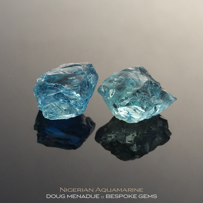 Aquamarine, Nigeria, #r283 - Doug Menadue :: Bespoke Gems :: For the finest quality precision cut and polished gemstones, located in the heart of Sydney Australia. Discover the art of the gemcutter.