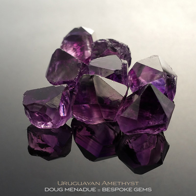 Amethyst, Uruguay, #r289 - Doug Menadue :: Bespoke Gems :: For the finest quality precision cut and polished gemstones, located in the heart of Sydney Australia. Discover the art of the gemcutter.