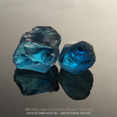 London Blue Topaz, Brazil, #r293 - Doug Menadue :: Bespoke Gems :: For the finest quality precision cut and polished gemstones, located in the heart of Sydney Australia. Discover the art of the gemcutter.
