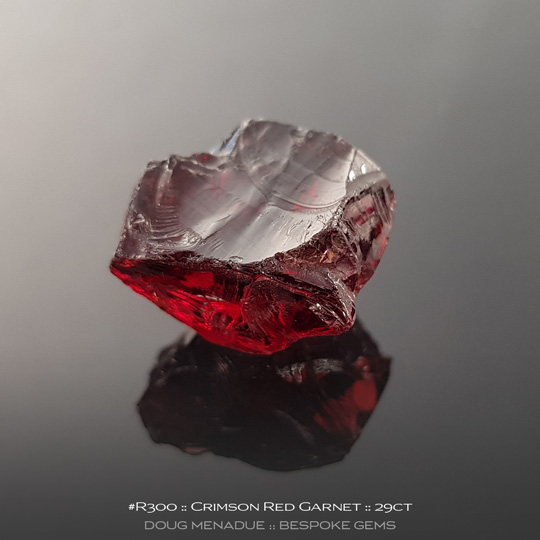 Red Garnet, Africa, #r300 - Doug Menadue :: Bespoke Gems :: For the finest quality precision cut and polished gemstones, located in the heart of Sydney Australia. Discover the art of the gemcutter.
