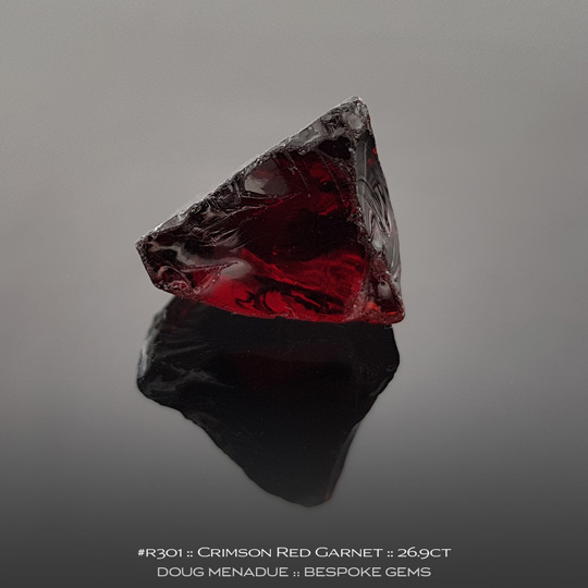 Red Garnet, Africa, #r301 - Doug Menadue :: Bespoke Gems :: For the finest quality precision cut and polished gemstones, located in the heart of Sydney Australia. Discover the art of the gemcutter.