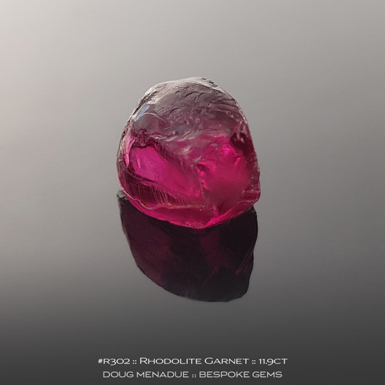 Rhodolite Garnet, Tanzania, #r302 - Doug Menadue :: Bespoke Gems :: For the finest quality precision cut and polished gemstones, located in the heart of Sydney Australia. Discover the art of the gemcutter.