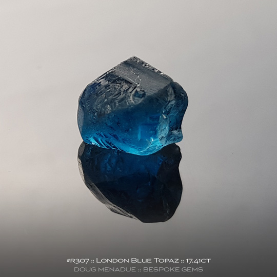 London Blue Topaz, Brazil, #r307 - Doug Menadue :: Bespoke Gems :: For the finest quality precision cut and polished gemstones, located in the heart of Sydney Australia. Discover the art of the gemcutter.