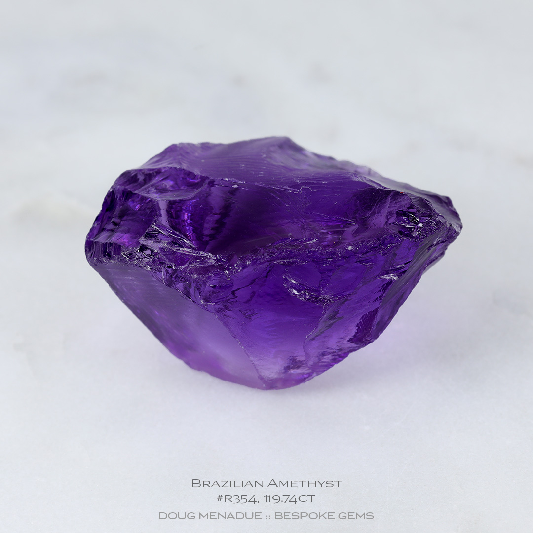 #r354, Purple Amethyst, Carving Gem Rough, 119.74 Carats, 13.16X13.11X10.41mm - Doug Menadue :: Bespoke Gems - WWW.BESPOKE-GEMS.COM - Precision Gemcutting and Lapidary Services In Sydney, Australia