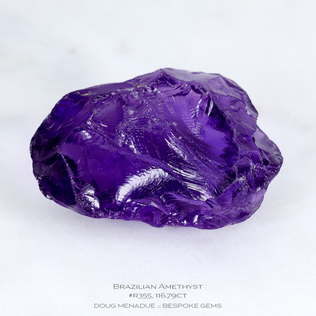 #r355, Purple Amethyst, Carving Gem Rough, 116.79 Carats, 13.16X13.11X10.41mm - Doug Menadue :: Bespoke Gems - WWW.BESPOKE-GEMS.COM - Precision Gemcutting and Lapidary Services In Sydney, Australia