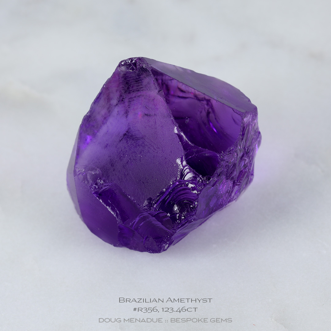 #r356, Purple Amethyst, Carving Gem Rough, 123.46 Carats, 13.16X13.11X10.41mm - Doug Menadue :: Bespoke Gems - WWW.BESPOKE-GEMS.COM - Precision Gemcutting and Lapidary Services In Sydney, Australia