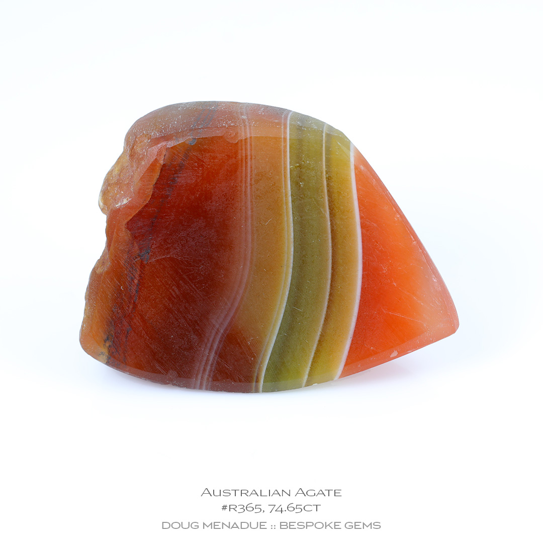 #r365, Orange Green Agate, Carving Gem Rough, 74.65 Carats, 13.16X13.11X10.41mm - Doug Menadue :: Bespoke Gems - WWW.BESPOKE-GEMS.COM - Precision Gemcutting and Lapidary Services In Sydney, Australia