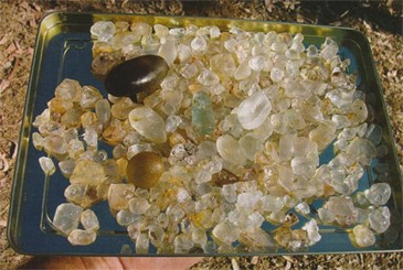 Tray of O'Briens Creek Topaz
