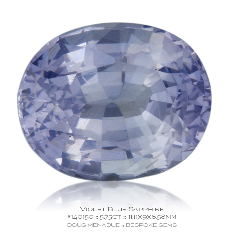 #140150, Violet Blue Sapphire, Oval, 5.75 Carats, 13.16X13.11X10.41mm - Doug Menadue :: Bespoke Gems - WWW.BESPOKE-GEMS.COM - Precision Gemcutting and Lapidary Services In Sydney Australia