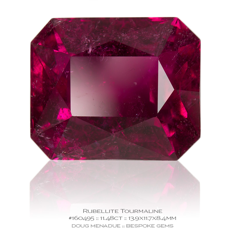 #160495, Pinkish Red Rubellite Tourmaline, Mixed Scissor Step Cut, 11.48 Carats, 13.16X13.11X10.41mm - Doug Menadue :: Bespoke Gems - WWW.BESPOKE-GEMS.COM - Precision Gemcutting and Lapidary Services In Sydney Australia