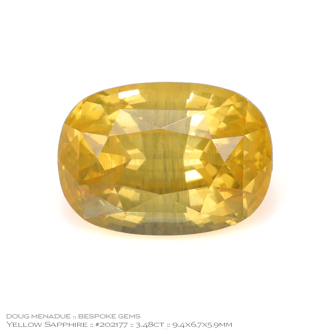 #202177, Pastel Yellow Sapphire, Oval, 3.48 Carats, 13.16X13.11X10.41mm - Doug Menadue :: Bespoke Gems - WWW.BESPOKE-GEMS.COM - Precision Gemcutting and Lapidary Services In Sydney Australia